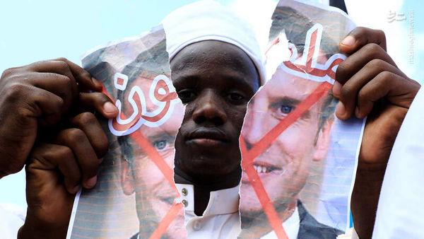 سیلی محکم مسلمانان سراسر جهان به مکرون