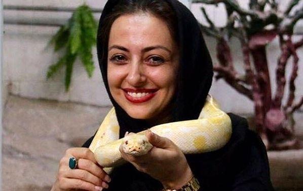 عشق خانم بازیگر به حیوانات عجیب!