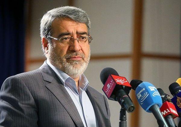 دستور عبدالرضا رحمانی فضلی به استاندار کردستان برای بررسی سانحه سنندج