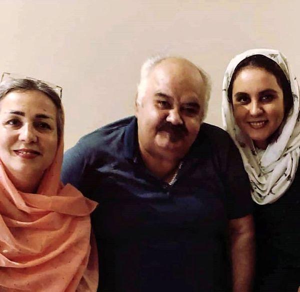 اکبر عبدی در کنار همسر و دخترش + عکس