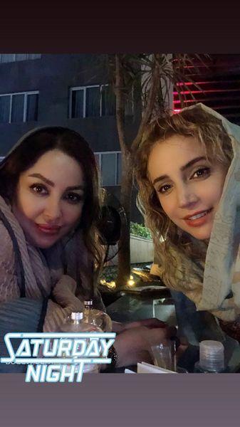 گردش های شبانه شبنم قلی خانی و دوستش + عکس