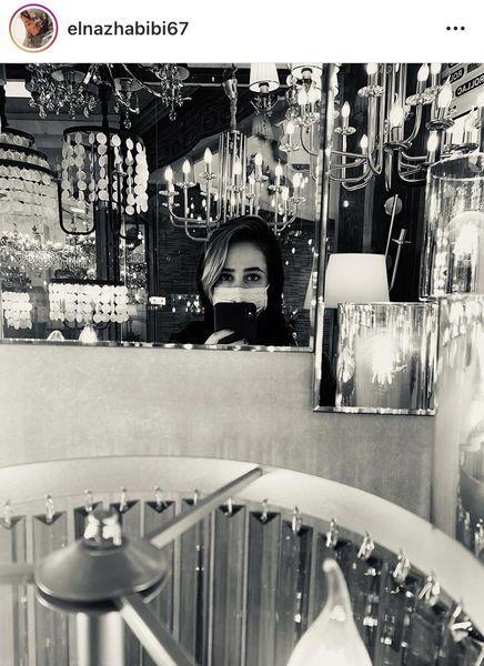 الناز حبیبی در یک فروشگاه لوازم خانگی + عکس