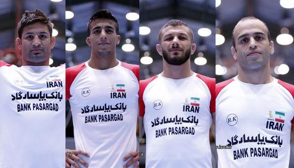 نادری خادم، حاجی پور، گرایی و عبدولی حریفان خود را کشتی فرنگی قهرمانی جهان شناختند
