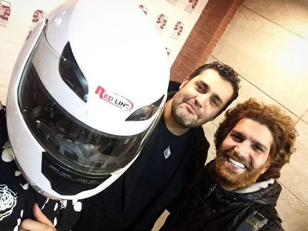 موتور سواری امیرمحمد زند و دوستش + عکس