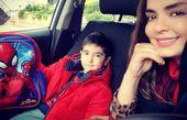 سپیده خداوردی و پسرش در ماشین شخصی اش+عکس