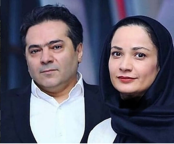 نسرین نصرتی در کنار همسرش + عکس