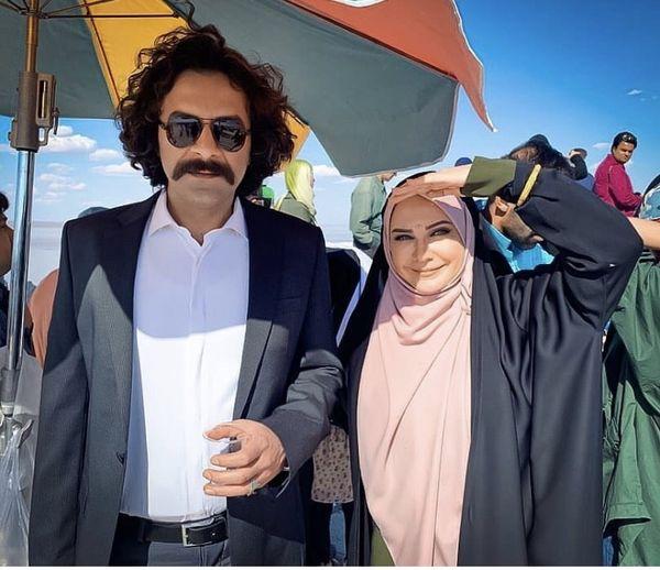 لعیا زنگنه در کنار بازیگر بانوی عمارت + عکس