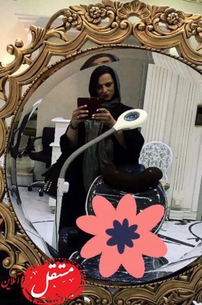روشنک عجمیان در آرایشگاه لاکچری اش+عکس