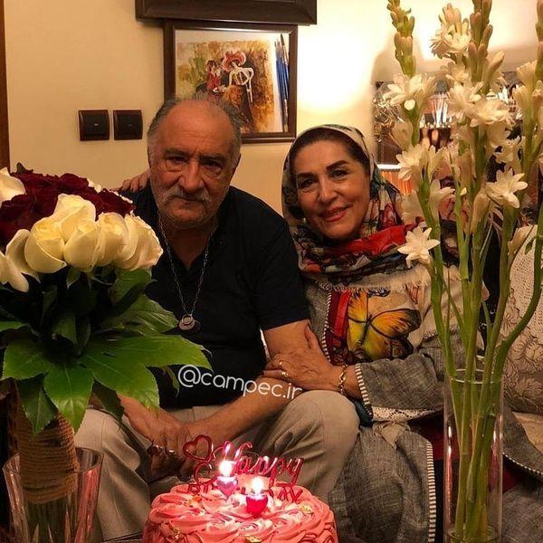 حشمت فردوس و همسر واقعی اش+عکس