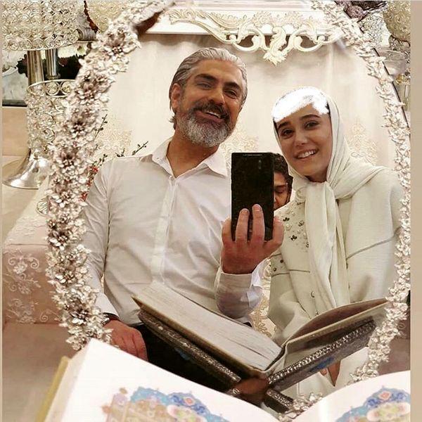 مهدی پاکدل پای سفره عقد رفت + عکس