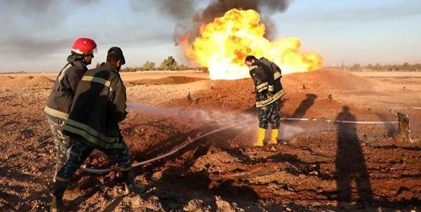حادثه آتشسوزی برای خط لوله انتقال نفت خوزستان به اصفهان