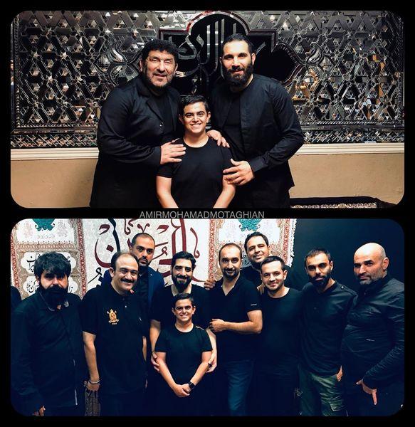 امیرمحمد متقیان و شخصیت های معروف در یک هیئت+عکس