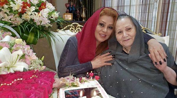 تولد 52 سالگی نسرین مقانلو در کنار مادرش + عکس