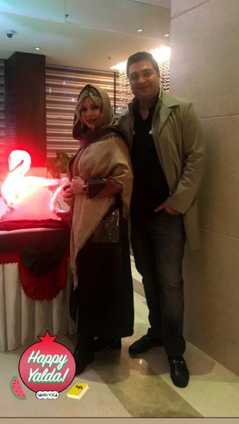 عکس یلدایی «نیوشا ضیغمی» و همسرش