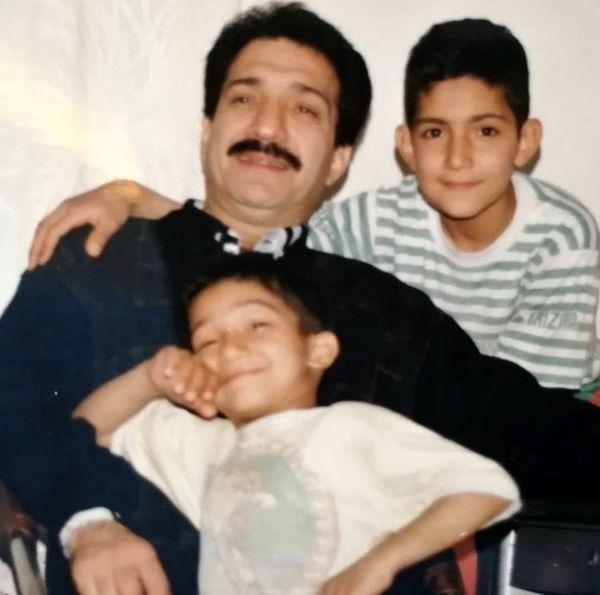 خشایار راد و پسرانش در قدیم + عکس