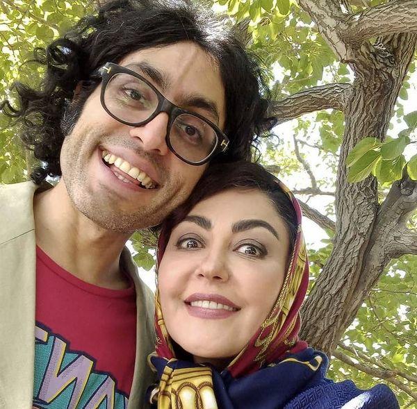 شیطنت های شقایق فراهانی و برادرش /عکس