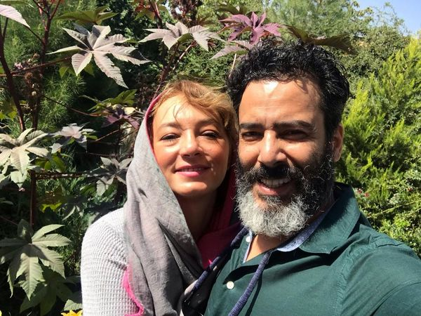 عکس عاشقانه نیما فلاح و همسرش