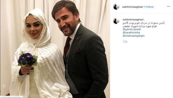 ساارا خوئینی ها در لباس عروس + عکس