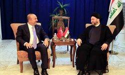 دیدار وزیر امور خارجه ترکیه با «سید عمار حکیم»