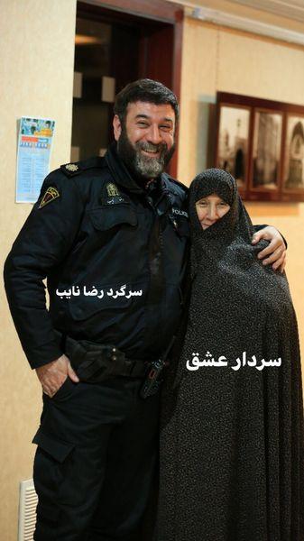 علی انصاریان در کنار مادرش + عکس