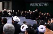 حضور رهبر انقلاب در مراسم عزاداری شب تاسوعای حسینی