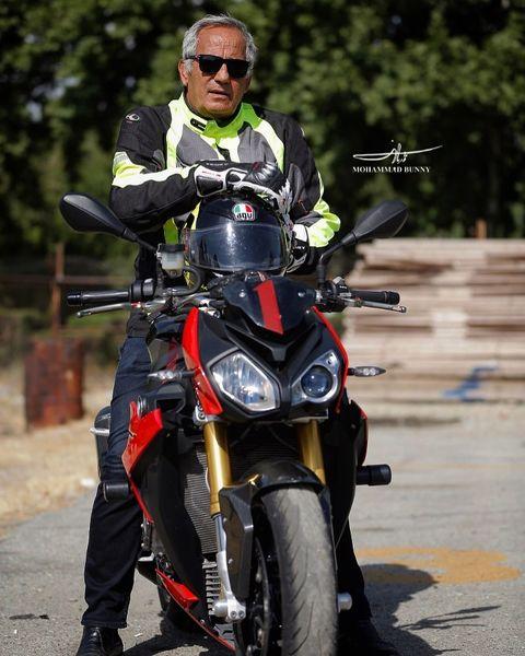 استایل موتورسواری مجید مظفری + عکس