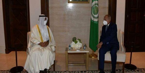 دیدار دبیر کل شورای همکاری با دبیر کل اتحادیه عرب