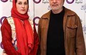 پرویز پرستویی در کنار همسر زیر تیغی اش + عکس