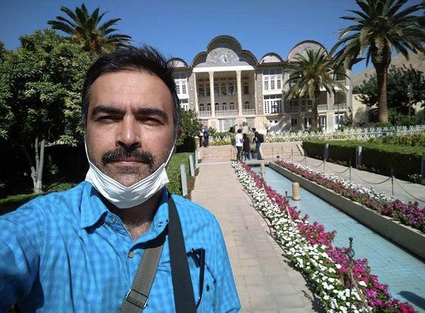 بازیگر معروف در باغ ارم شیراز + عکس