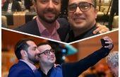 سلفی سپند امیرسلیمانی با آقای چشم رنگی محبوب سینما+عکس
