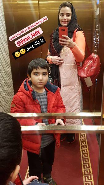 سپیده خداوردی و پسرش در راه باشگاه + عکس