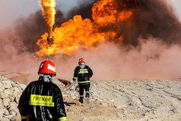 آتش سوزی مجموعه 167 شرکت بهرهبرداری نفت و گاز گچساران مهار شد