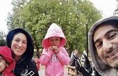 فلامک جنیدی و دو قلوهایش در پارک + عکس