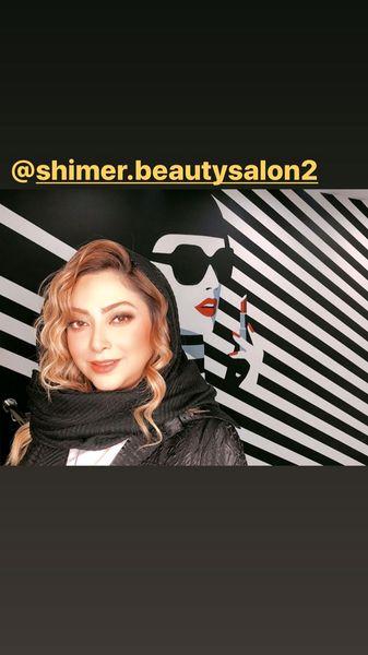 مریم سلطانی در سالن زیباییش + عکس