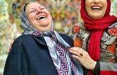 عکس زیبا و خوش حس فریبا کوثری و مادرش