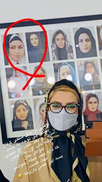 ملیکا زارعی در کنار عکس های خواهرش + عکس