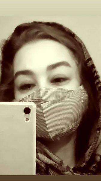 عکس جدید ماهایا پطروسیان با ماسک