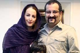 مهراب قاسمخانی و شقایق دهقان در کنار فرزندانشان