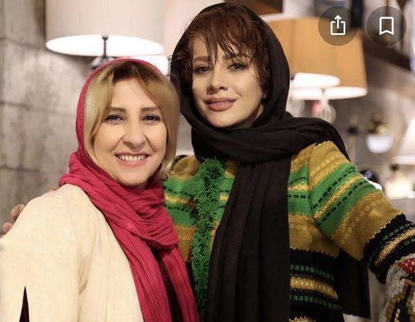 شراره رخام در کنار بازیگر پیشکسوت + عکس