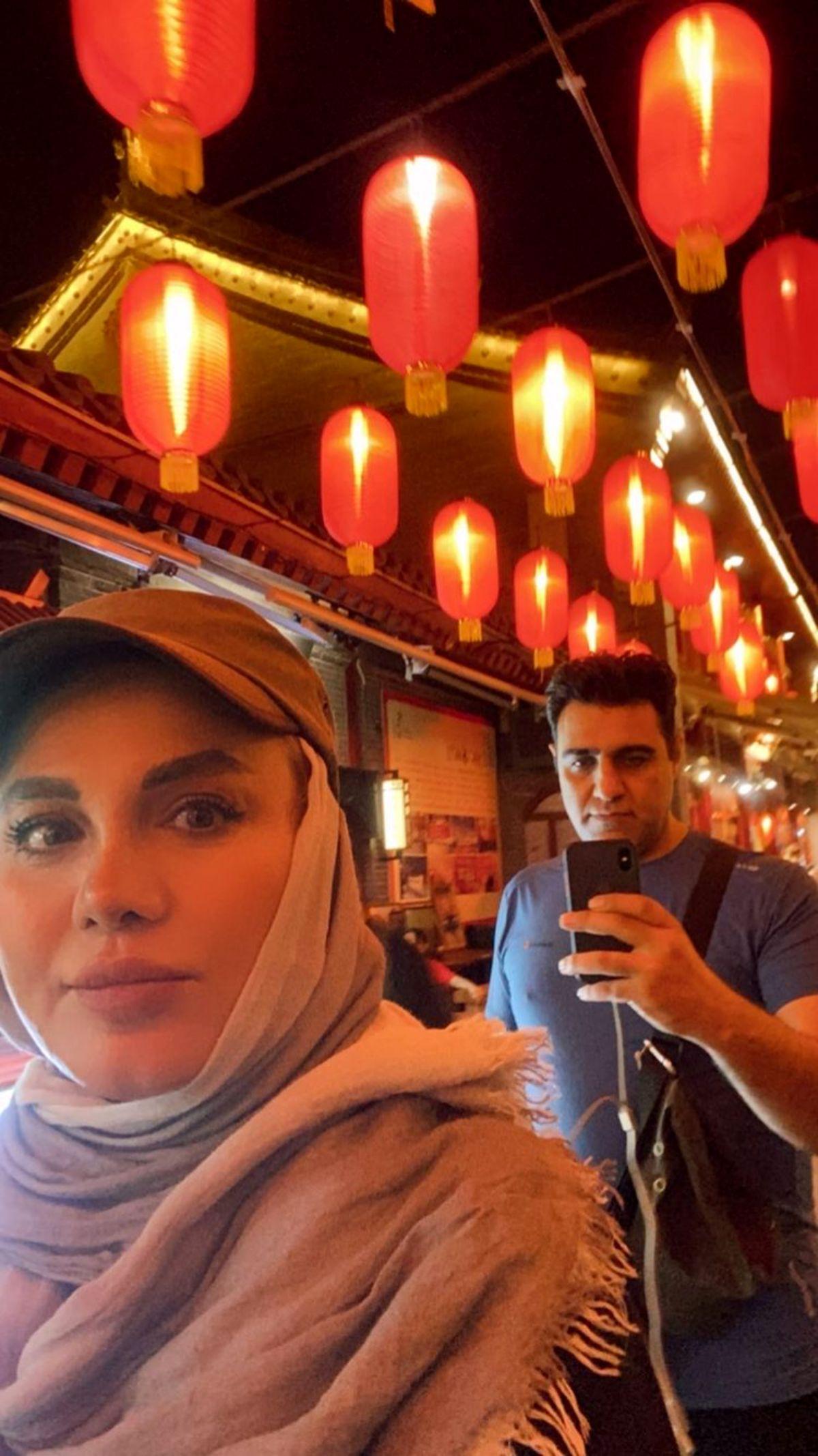 نرگس آبیار و همسرش در سفر + عکس
