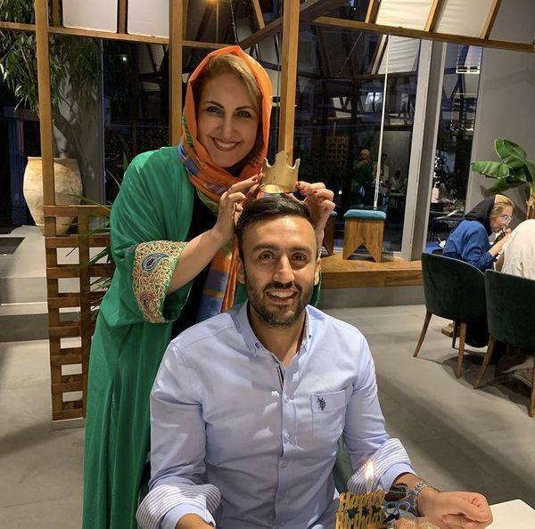 فاطمه گودرزی و پسرش در رستوران + عکس