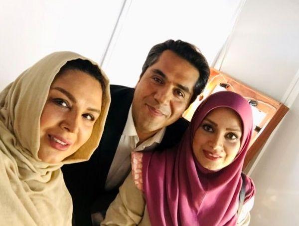 سلفی شهره سلطانی با زوج خوش صدای مشهور + عکس