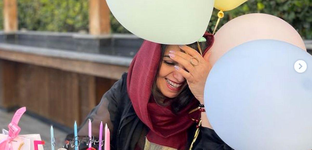 خنده های از ته دل الهام پاوه نژاد در روز تولدش + عکس