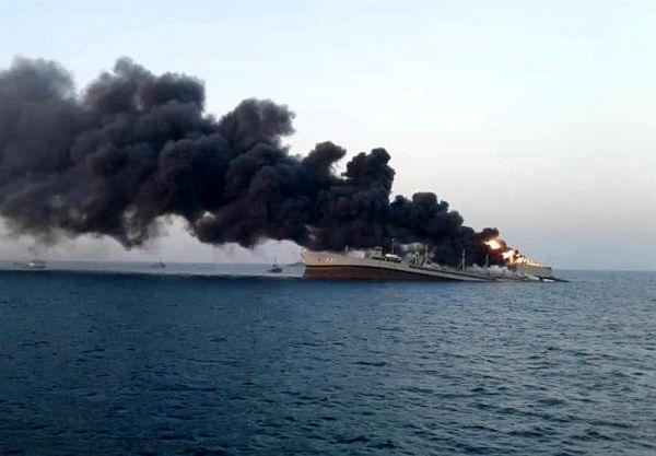 آتش در ناو خارک