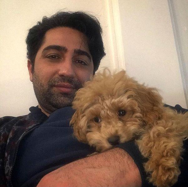 علی سخنگو و سگش + عکس