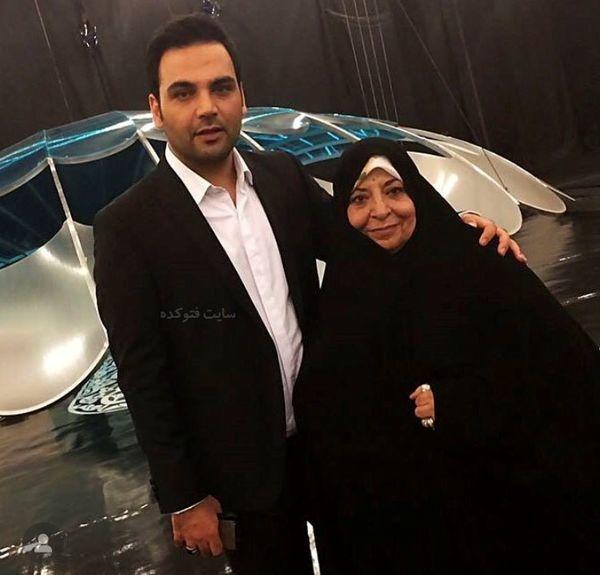 احسان علیخانی و مادرش در یک برنامه + عکس