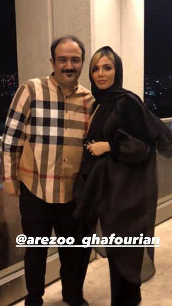 مهران غفوریان در کنار همسر جوانش + عکس