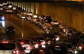 ترافیک در برخی مقاطع آزادراه تهران -کرج-قزوین نیمه سنگین است