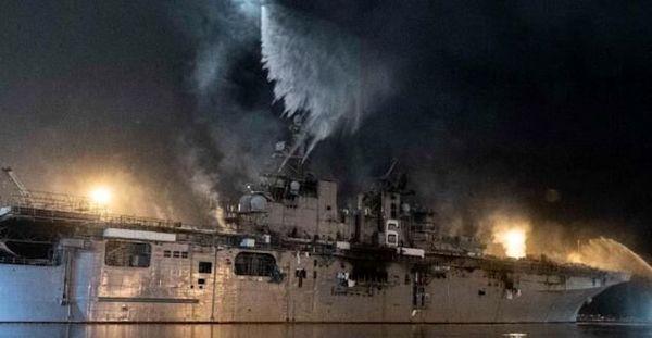 خاموش کردن ناو جنگی آمریکا پس از چهار روز