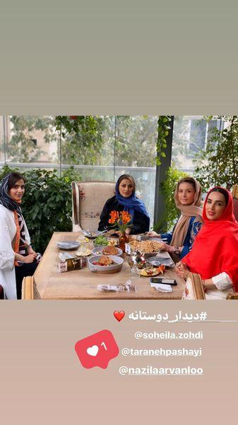 دورهمی خانم بازیگر با دوستانش + عکس
